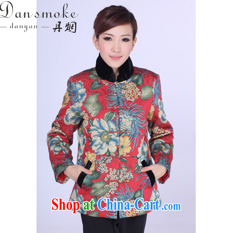 Bin Laden smoke-free fall and winter new Chinese cheongsam dress Chinese Tang replacing the collar improved the Snap parka brigades