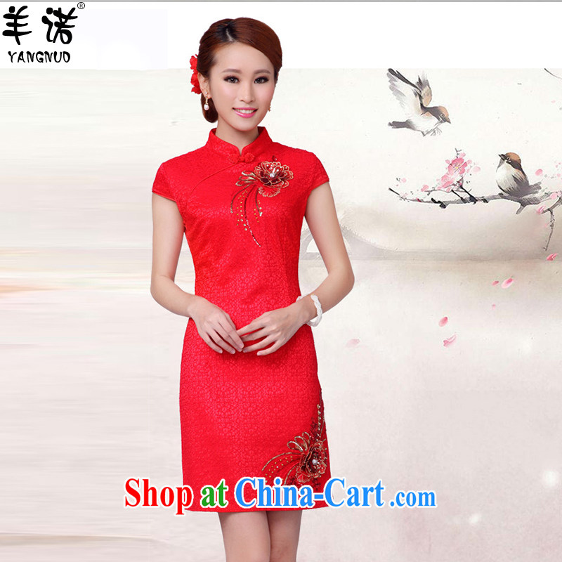Sheep, summer 2015 new stylish wedding dresses bridal toast clothing qipao QP 005 red XXL