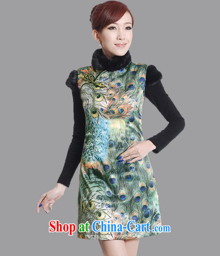According to the conditions in Winter spring new women with improved Chinese qipao, for classic is the cotton sleeveless dresses beauty as shown in Figure 2 XL pictures, price, brand platters! Elections are good character, the national distribution, so why buy now enjoy more preferential! Health