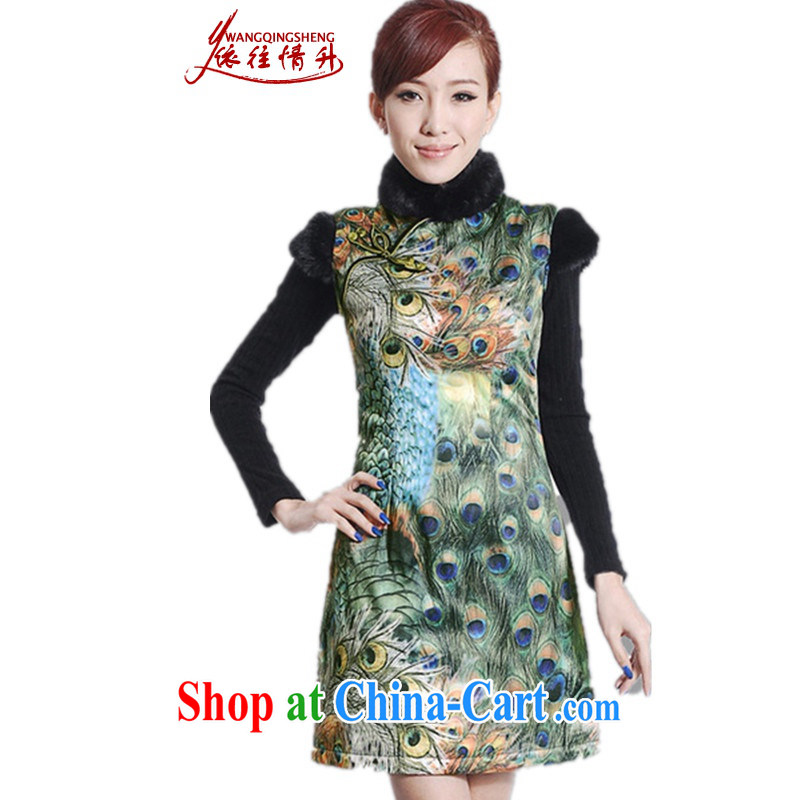 According to the conditions in Winter spring new female improved Chinese qipao, for classical-The cotton sleeveless dresses beauty as shown in Figure 2 XL