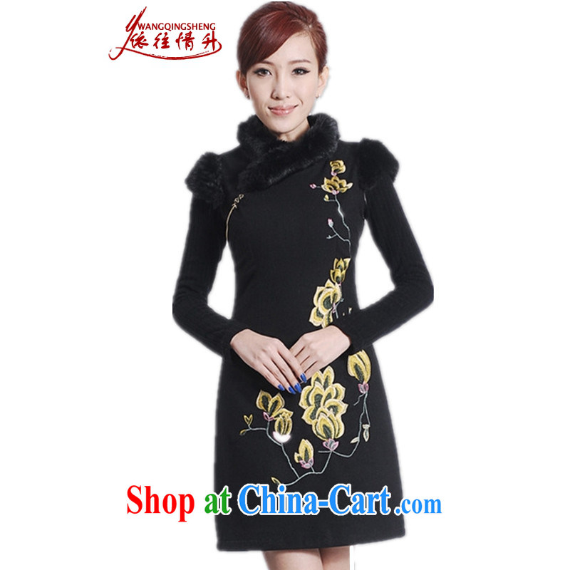 According to the conditions in winter new female improved Chinese qipao, for a tight embroidered sleeveless dresses beauty as shown in Figure 2 XL