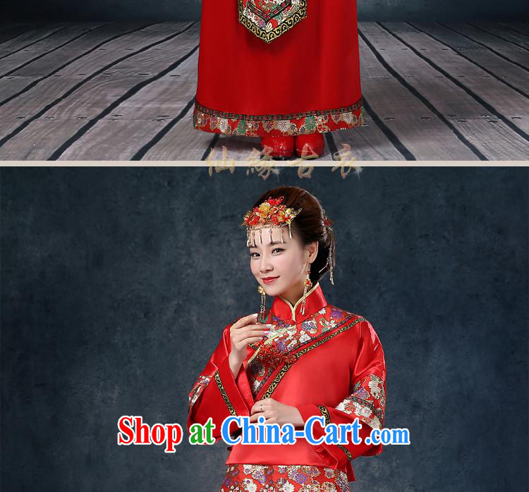 Wei Qi Su-wo service summer 2015 new bridal gown red Chinese Antique married Yi bows serving long-sleeved wedding dresses Phoenix pregnant women use red XXL pictures, price, brand platters! Elections are good character, the national distribution, so why buy now enjoy more preferential! Health