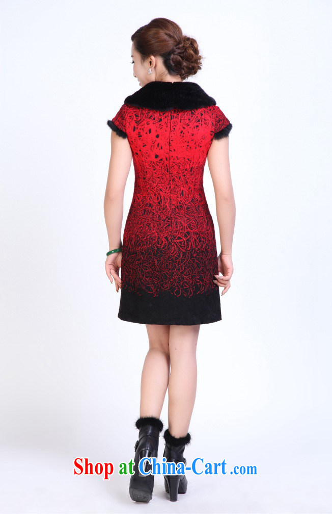Take the cheongsam dress Tang with autumn and winter fashion so gross for improved cheongsam dress Manually Take Charge cheongsam dress bows white 2XL pictures, price, brand platters! Elections are good character, the national distribution, so why buy now enjoy more preferential! Health