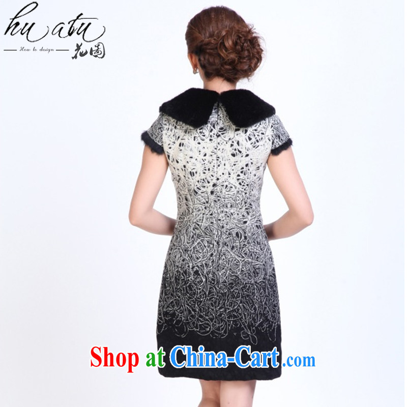 Take the cheongsam dress Tang with autumn and winter fashion so Gross Gross for improved cheongsam dress Manually Take Charge cheongsam dress bows white 2XL, spend, and, on-line shopping