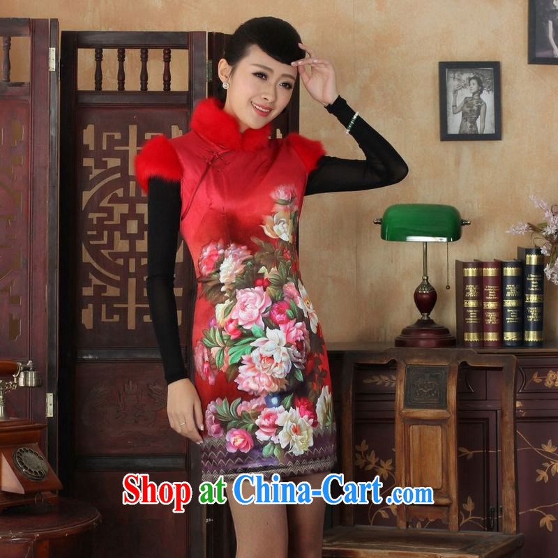 Jing An outfit, Ms. Tang with improved winter dresses, for the waist dress dresses - C picture color 2 XL