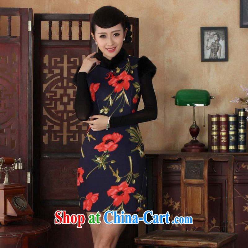 Jing An outfit, Ms. Tang with improved winter dresses, for the waist dress dresses Y 0027 Map Color 2 XL
