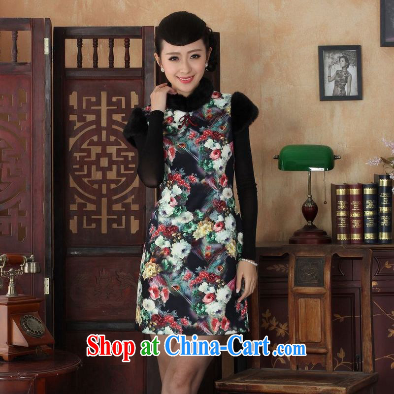 Jing An outfit, Ms. Tang with improved winter dresses, for the waist dress dresses picture color 2 XL