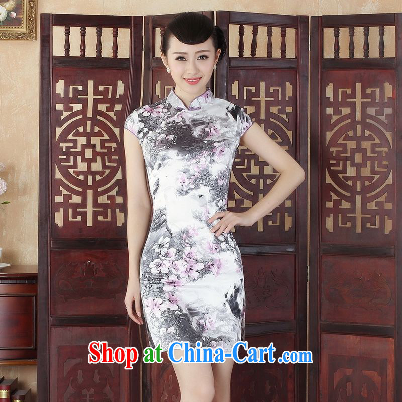 Jing An outfit, Ms. Tang is improved summer dresses up for a tight budget stamp collection waist dress dresses J 5130 Map Color 2 XL