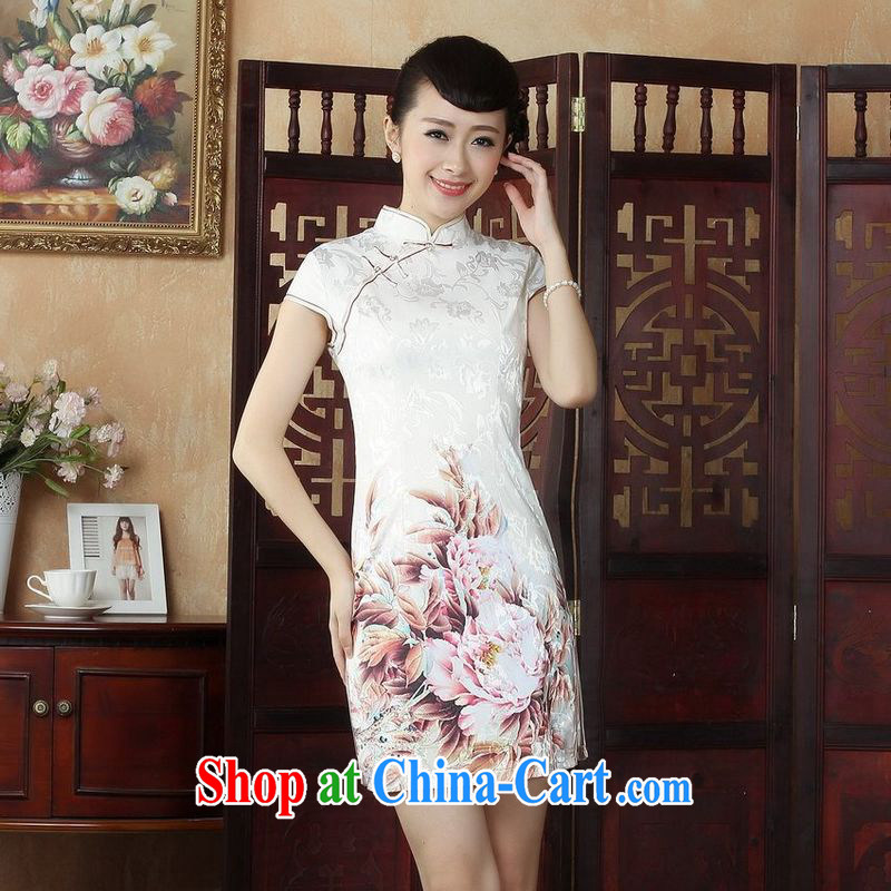 Jing An outfit, Ms. Tang is improved summer dresses up for a tight stamp beauty dress dresses D 0250 color 2 XL