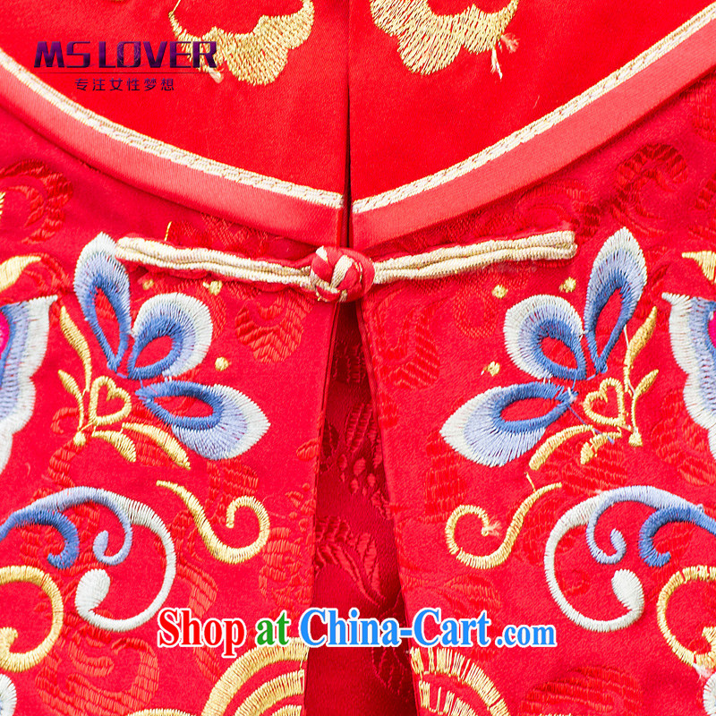 MSLover Butterfly Lovers take Chinese brides long-sleeved retro, who married clothing dress dresses show reel XH serving 141,207 red XL, name, Elizabeth (MSLOVER), online shopping