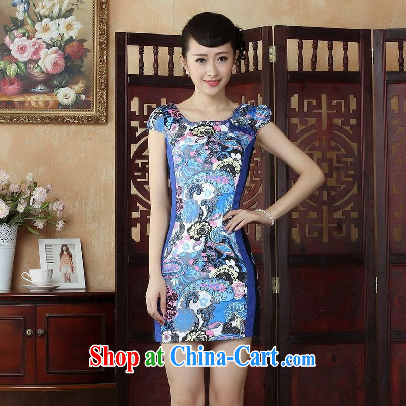 Jing An Hotel, Ms. Tang is China wind stylish improved cheongsam dress dress dress D, 0246 XL
