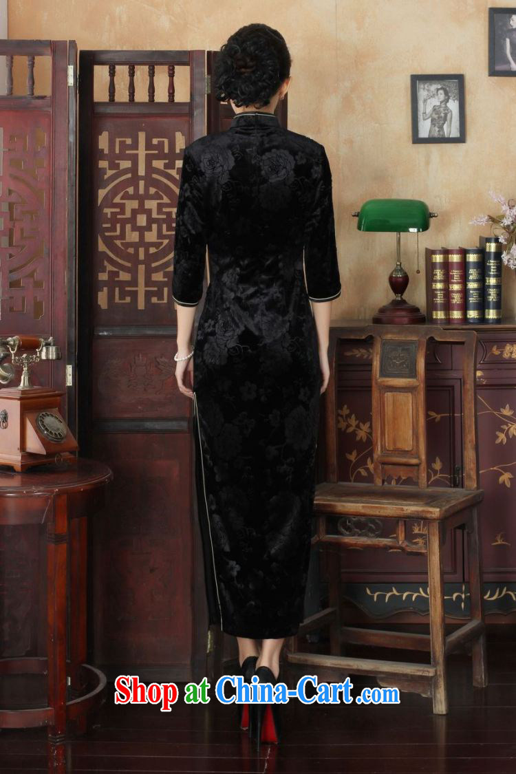 Miss Au King contributed new-stretch the wool long cheongsam 7 cuffs fall and winter dresses, dress blue 2 XL pictures, price, brand platters! Elections are good character, the national distribution, so why buy now enjoy more preferential! Health