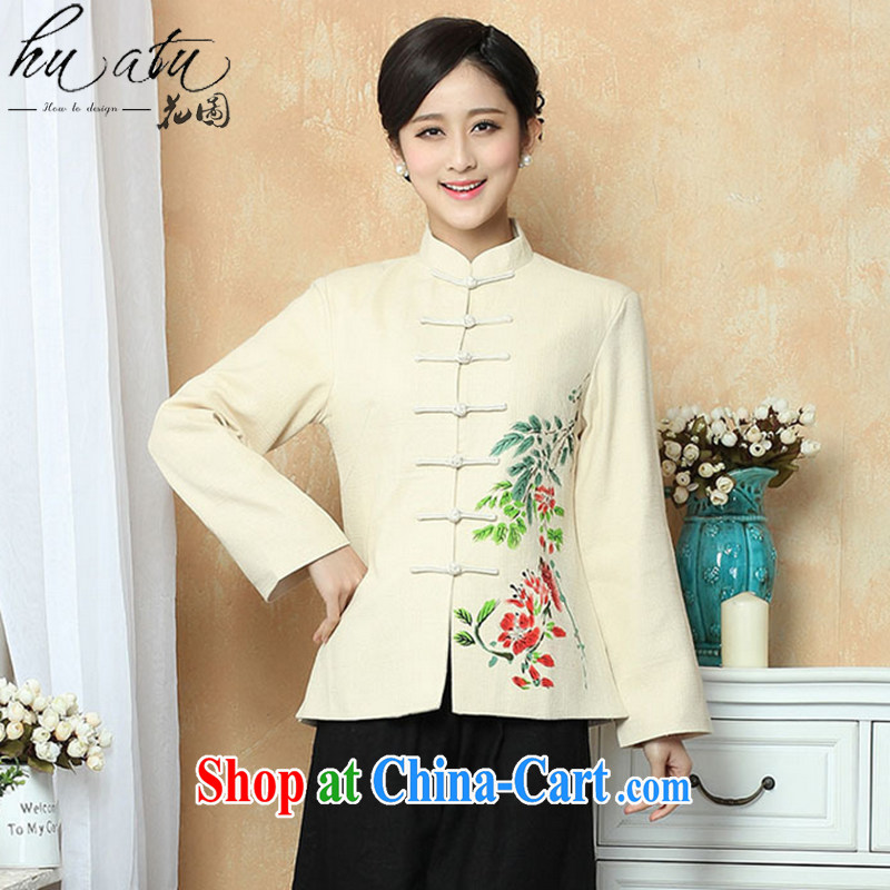 Take the Tang Women's clothes dresses hand-painted Chinese improved, for Chinese autumn and winter coats arts performances long-sleeved clothing - 1 3 XL