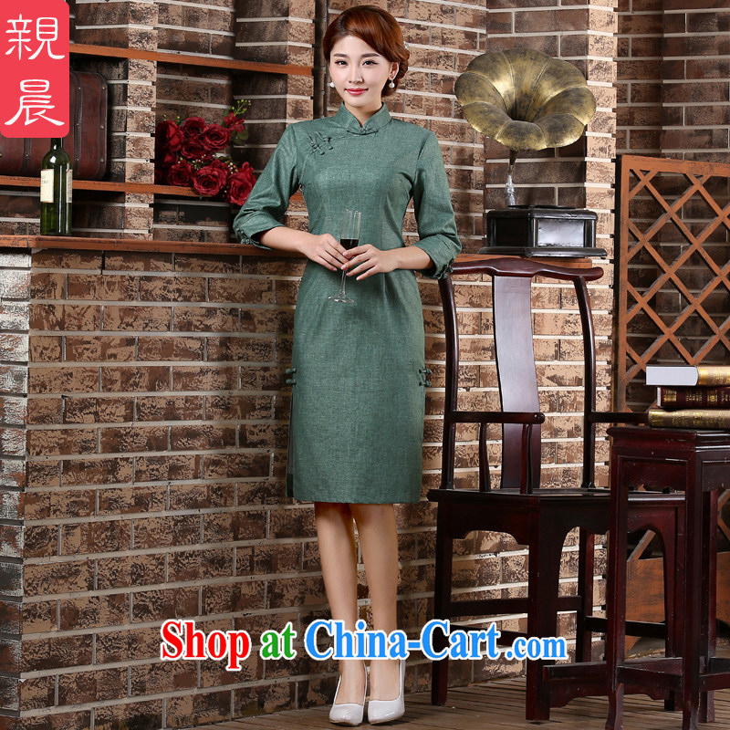 pro-am 2015 new spring and summer cuff in Yau Ma Tei cotton arts improved stylish 7 sub-cuff antique cheongsam dress water red M - waist 72cm - 5 day, and the pro-am, shopping on the Internet