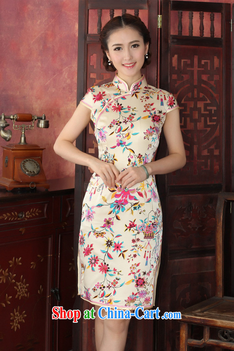Dan smoke cheongsam dress high-end European and American style sauna Silk Cheongsam elegant daily banquet Silk Cheongsam dress annual 1035 #green 2 XL pictures, price, brand platters! Elections are good character, the national distribution, so why buy now enjoy more preferential! Health