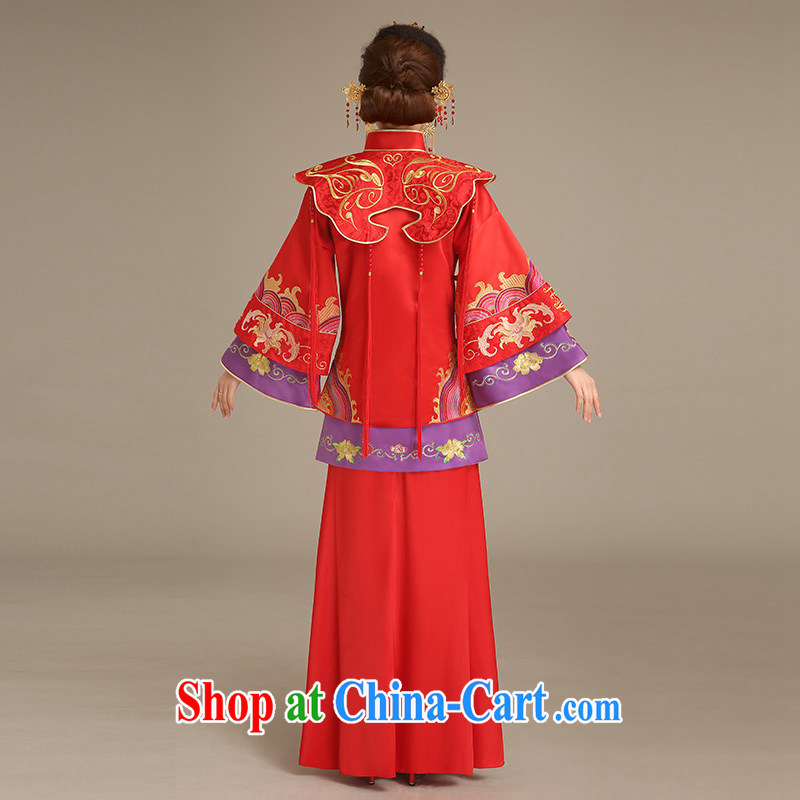 Code hang bridal bridal show reel service red bows service 2015 new stylish long-sleeved Phoenix use Chinese Antique wedding dresses 5 well Phoenix use red L, and hang Seng bride, shopping on the Internet
