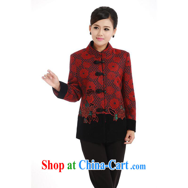 meropia new autumn replace stamp duty cultivating character Chinese shirt BS - AE, for Tang 3 color red and black