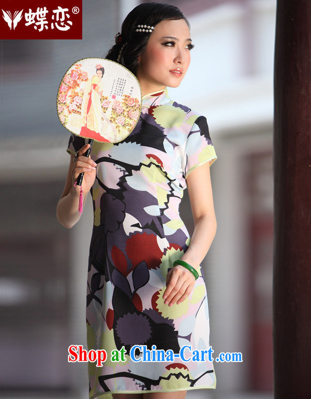 Butterfly Lovers lovely Colorful spring 2015 the new retro style improved cultivating short daily outfit 49,190 figure XL