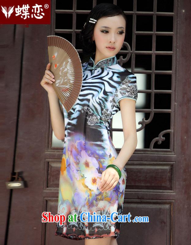 Butterfly Lovers return snow 2015 spring new cheongsam dress Chinese improved stylish short-sleeve dresses 49,191 figure XXXL