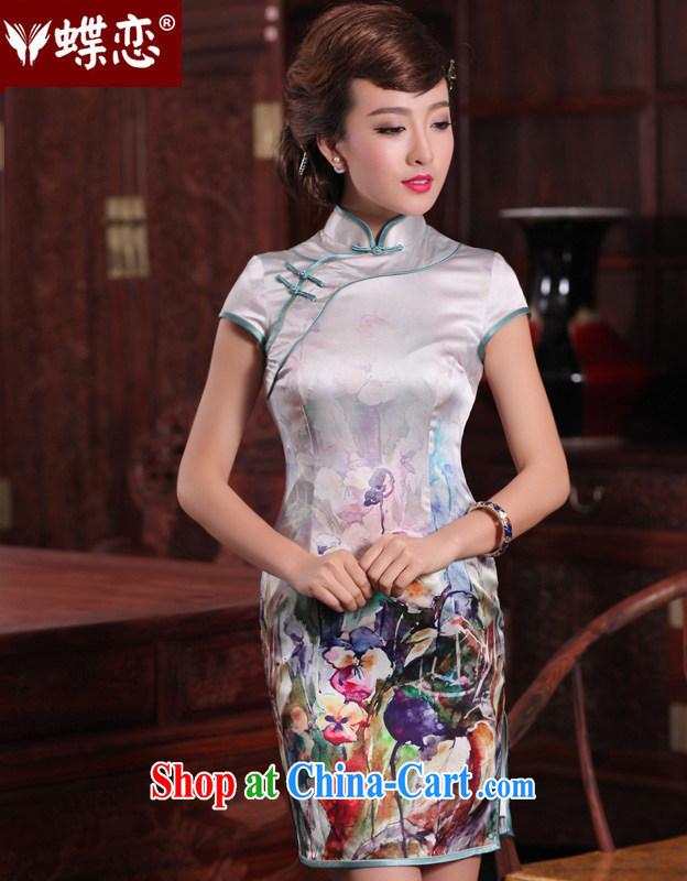 Butterfly Lovers fragrant curtain images 2015 spring new upscale silk the stylish improved spend 49,197 dresses figure XXL