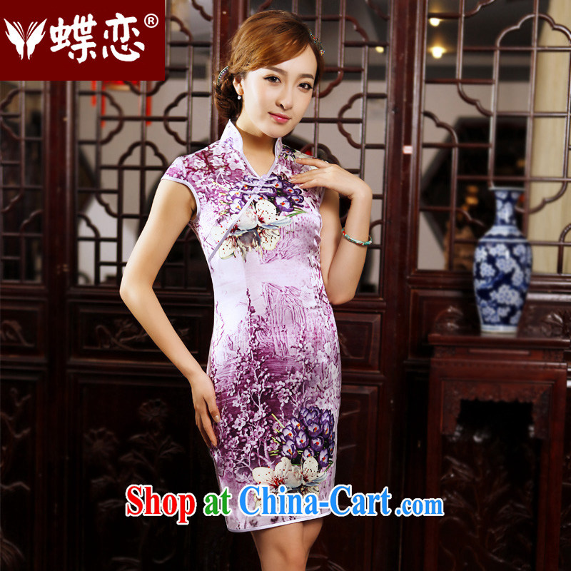 Butterfly Lovers busy spring 2015 spring new cheongsam dress improved stylish short daily outfit 49,202 figure XXL