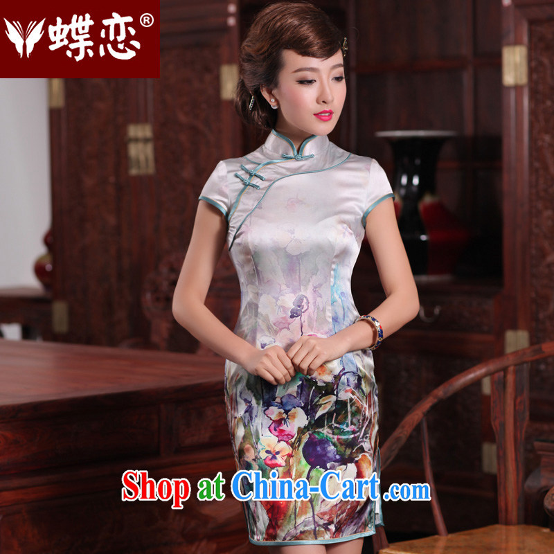 Butterfly Lovers fragrant curtain, shadow 2015 spring new positioning stylish improved quality silk flowers cheongsam 49,197 figure M