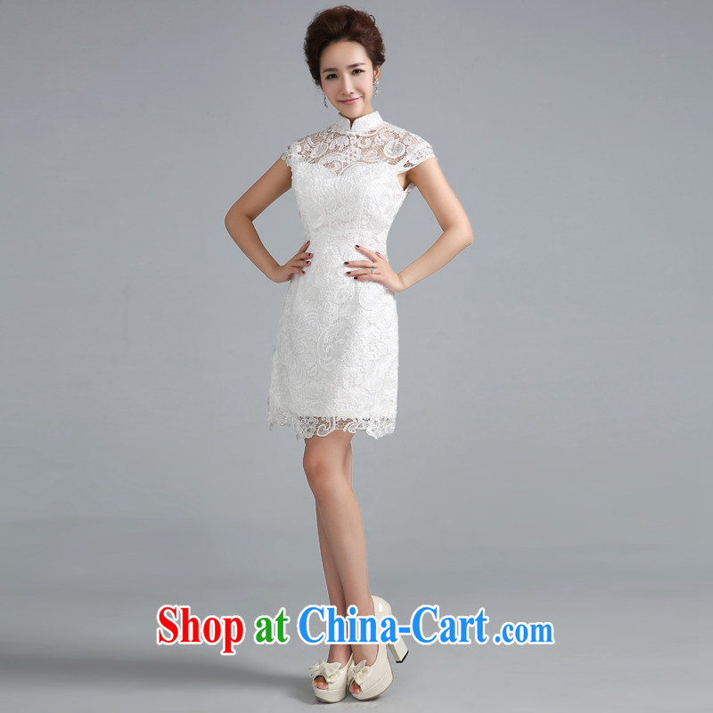 Jie MIA dresses bows service 2014 new Korean bridal stylish retro daily dresses red wedding dress white short XXL