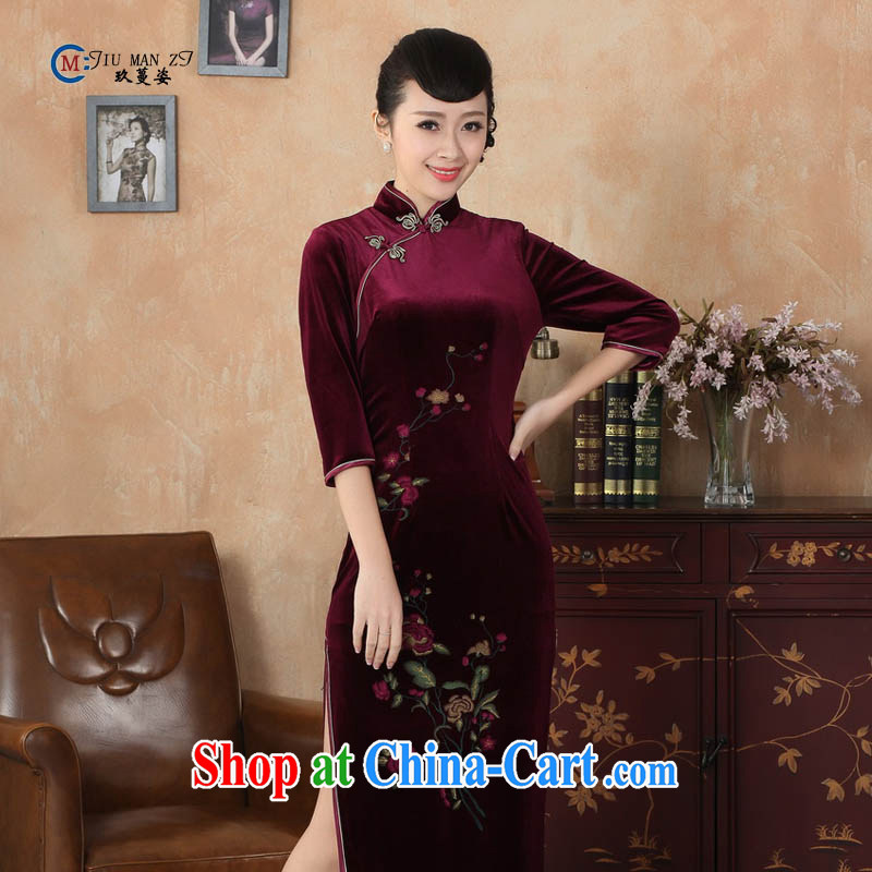 Ko Yo vines into colorful spring 2015 new Chinese-stretch the wool fashion, for a tight-snap 7 cuff high on the truck cheongsam T T 0003 0003 180_3 XL