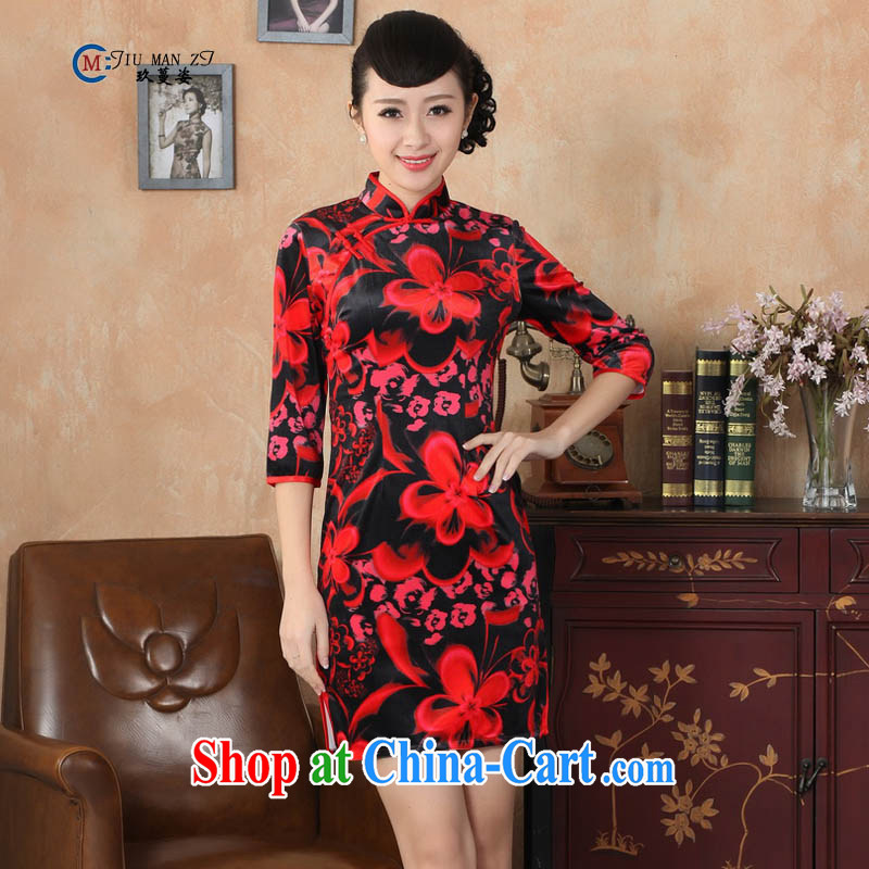 Ko Yo vines into colorful spring and autumn 2015 New Tang with elegant 5 cuff is tight, for true wool the ethnic wind high on the truck cheongsam TD TD 0041 0041 175_2 XL