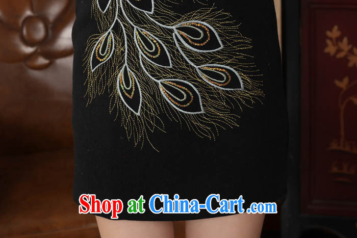 Ko Yo vines into colorful spring 2015 New Tang with stylish hair is gross and elegant classic for the tie-clip elegant short-sleeved qipao Y 0009 black 175/2 XL pictures, price, brand platters! Elections are good character, the national distribution, so why buy now enjoy more preferential! Health