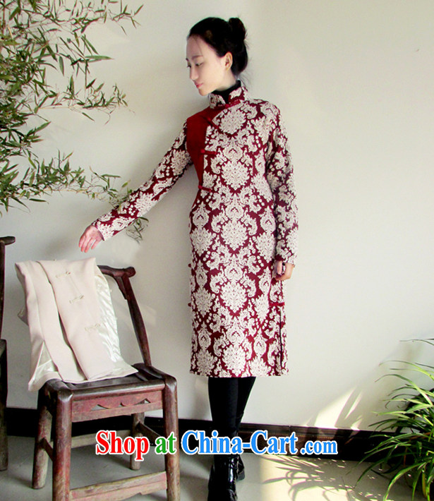Ask a vegetarian (ask heart -- winter clothes new, improved Chinese wind-tie outfit WXZ 1052 dark blue cheongsam + beige vest 1128 XS pictures, price, brand platters! Elections are good character, the national distribution, so why buy now enjoy more preferential! Health