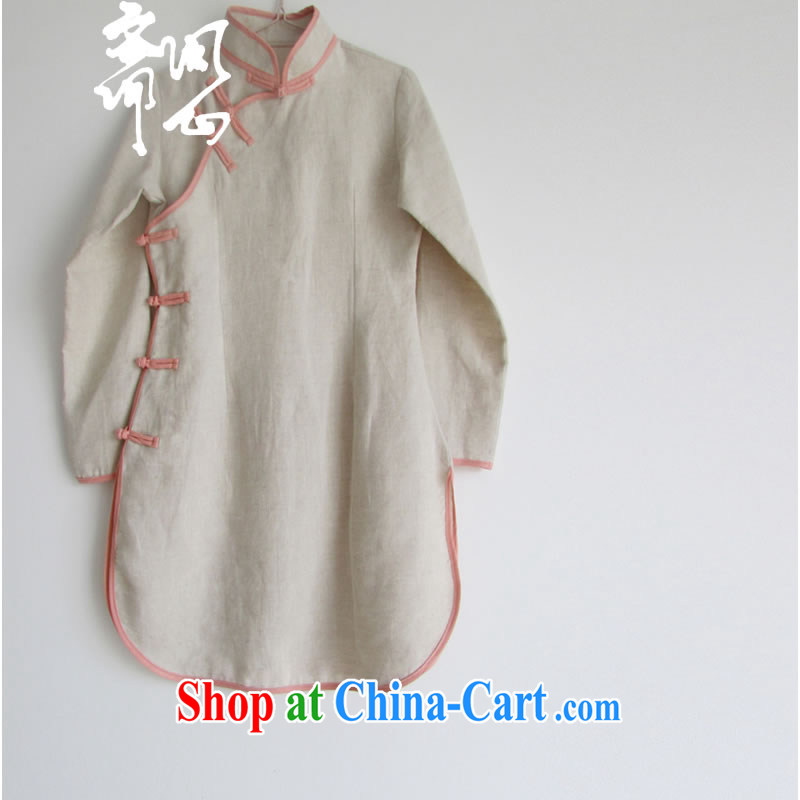 q heart Id al-Fitr _ask heart -- winter clothes new, improved Chinese-tie outfit WXZ XS 1048