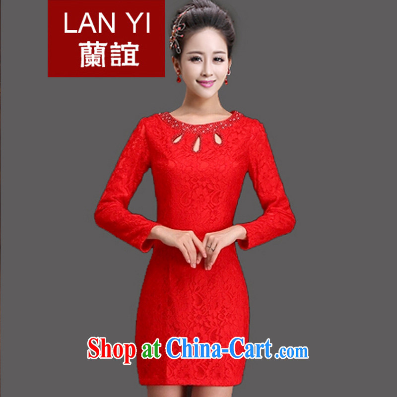 Friends, bride toast wedding cheongsam dress spring 2015 new retro improved cheongsam dress autumn and winter red wedding dress quality assurance store