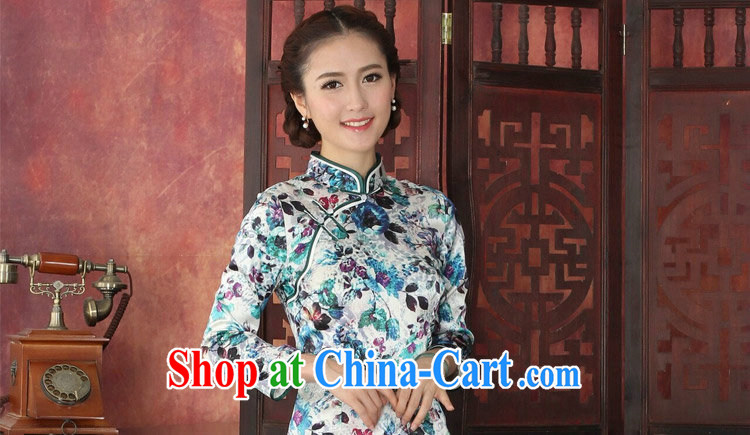 Dan smoke cheongsam dress Chinese silk, Chinese, for long-sleeved dresses antique dresses annual graphics thin silk dress 1029 #2 XL pictures, price, brand platters! Elections are good character, the national distribution, so why buy now enjoy more preferential! Health