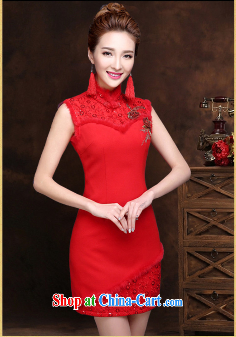 Qi wei served toast bride summer 2015 New Red toast clothing cheongsam banquet dress bride wedding toast serving short red dresses and shawls XXL pictures, price, brand platters! Elections are good character, the national distribution, so why buy now enjoy more preferential! Health