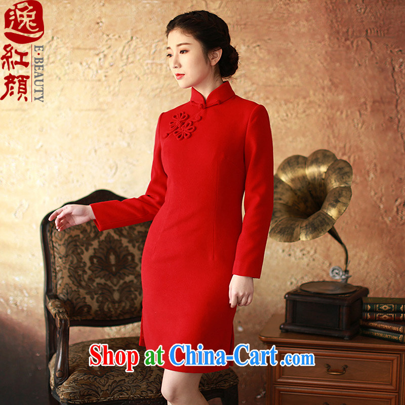 The proverbial hero once and for all as soon as possible if tolerance winter long-sleeved dresses new spring improved retro dresses skirt red XL