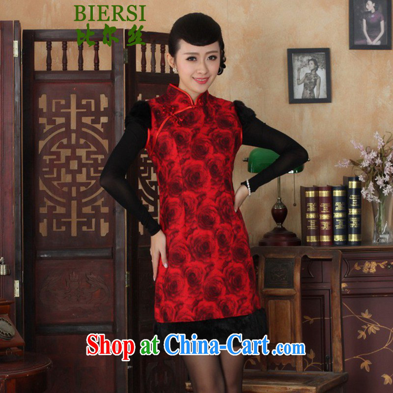 Carl Bildt, new Chinese qipao, for a classic hard-pressed the charge-back floral beauty sleeveless cheongsam dress as figure 2 XL