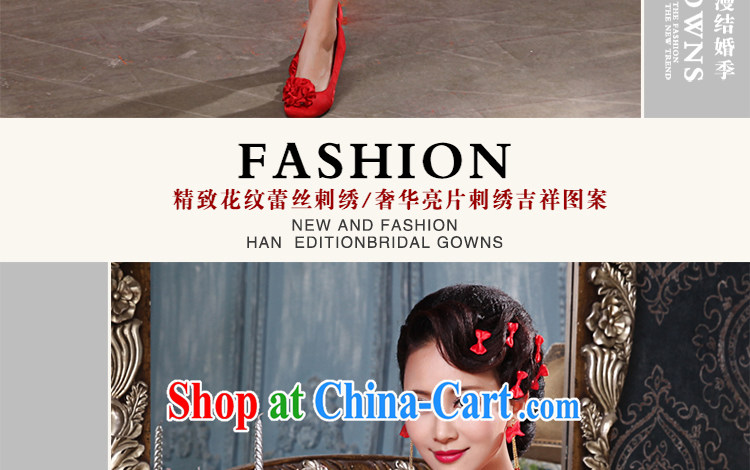Beautiful ornaments cheongsam dress 2015 winter improved stylish bridal toast serving red lace short wedding dresses red short qipao 033 XL pictures, price, brand platters! Elections are good character, the national distribution, so why buy now enjoy more preferential! Health