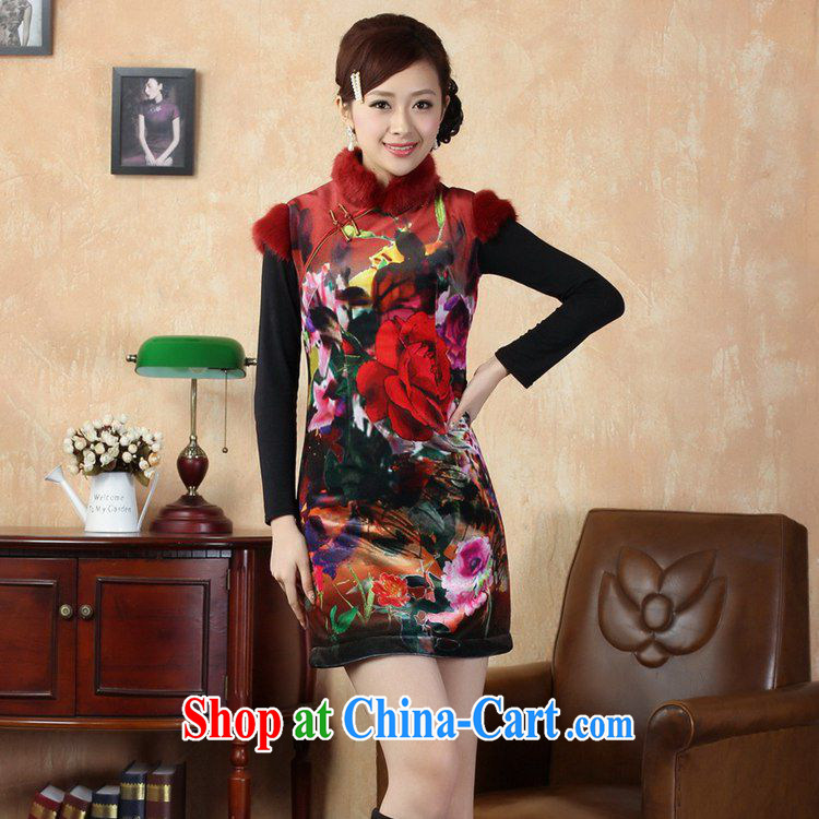 Carl Bildt, spring new girls improved Chinese qipao, for gross for classical-snap poster beauty short cheongsam dress Y 0021 - C #2 XL pictures, price, brand platters! Elections are good character, the national distribution, so why buy now enjoy more preferential! Health