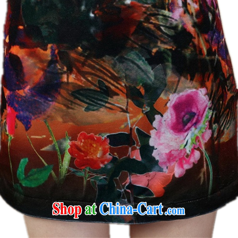 Carl Bildt, spring new girls improved Chinese qipao, for gross for classical-snap poster beauty short cheongsam dress Y 0021 - C #2 XL, bill, and on-line shopping