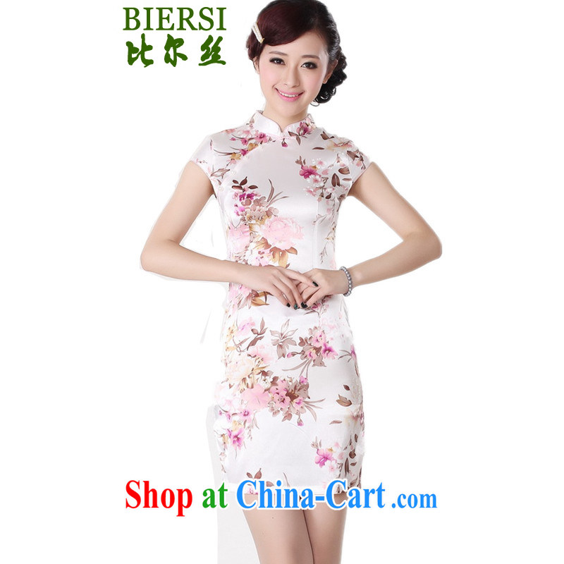 Bill, new ethnic-Chinese qipao, for a tight Classic tray charge stamp duty cultivating short cheongsam dress as shown M