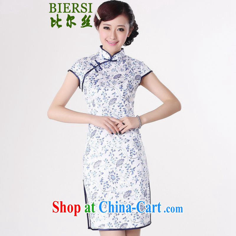 Bill's new improved Chinese qipao, for a tight Classic tray for short-sleeved cultivating short cheongsam dress such as figure 2 XL
