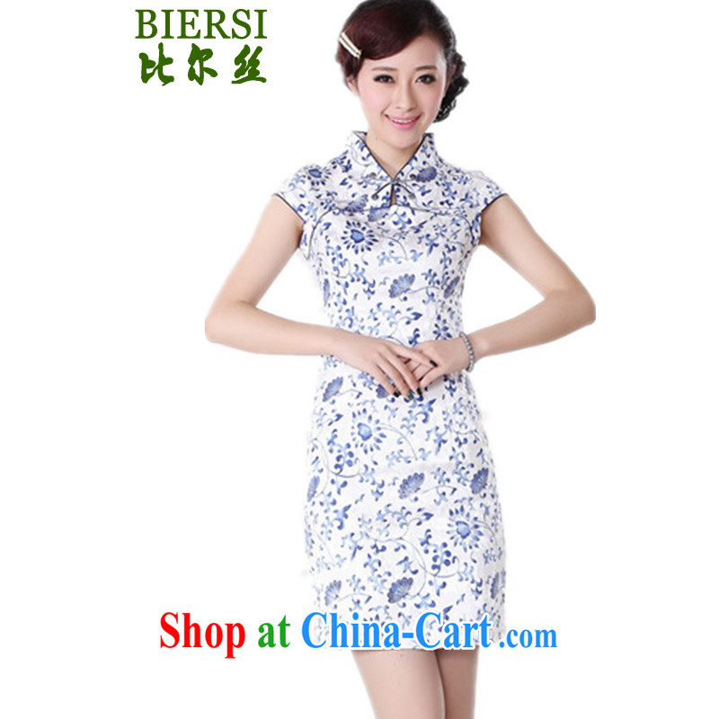 Bill's new improved Chinese qipao, for Classic tray snap stamp duty cultivating shorts dresses skirts as shown XL