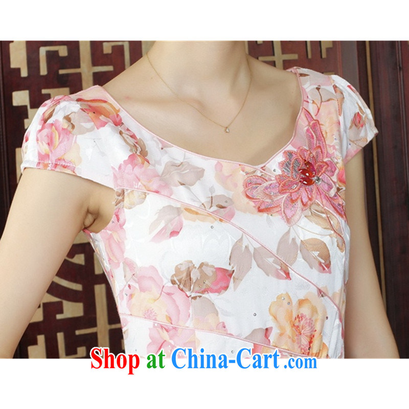 To Green, stylish new ladies improved Chinese qipao the flap embroidered beauty short cheongsam dress as S, green, and, on-line shopping