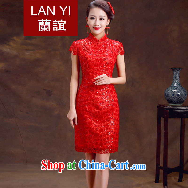 Estimated 2015 Quaker marriages bows dresses retro graphics thin spring dresses dress skirt Chinese red wedding dresses Quality Assurance quality assurance
