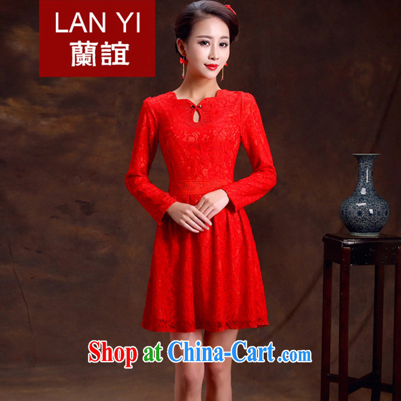 Friends, bride toast wedding cheongsam dress retro improved fashion cheongsam dress Red Spring and Chinese wedding dress quality assurance, the ceremony