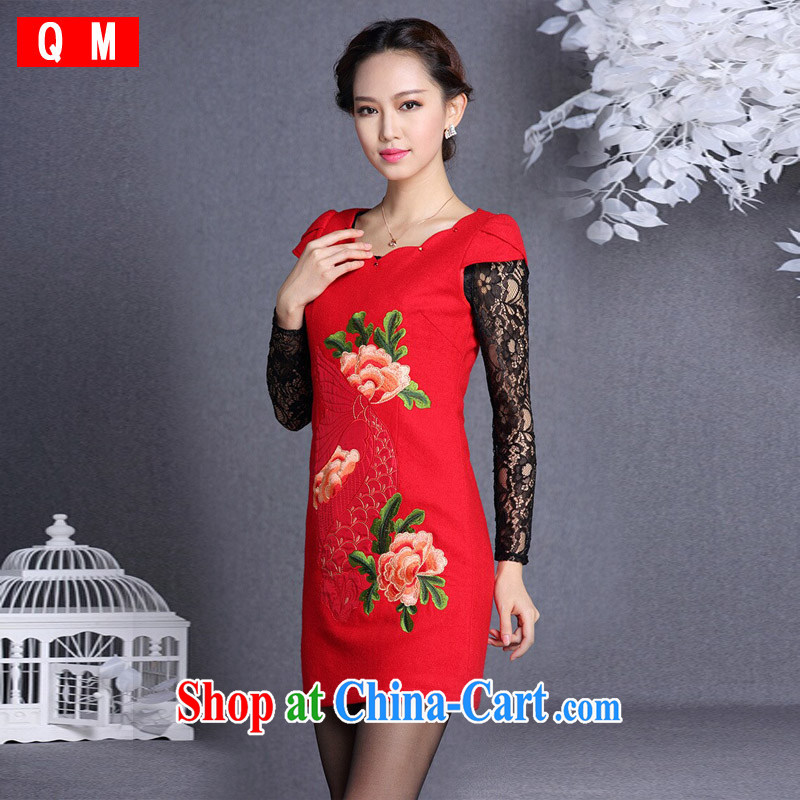 Shallow end (QM), improved stylish embroidered hair so short cheongsam XWGQF 13,054 XXL