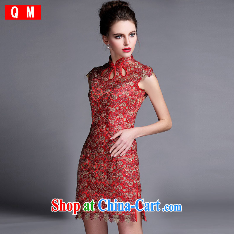 Light _at the end_ QM cheongsam dress XWGQF 140,501 picture color XXL