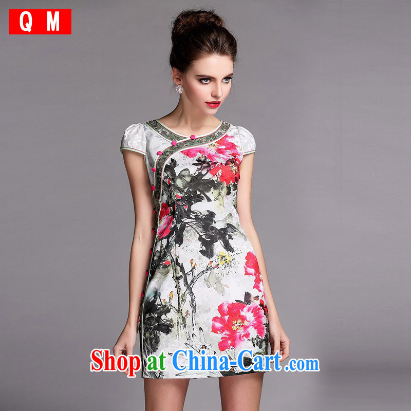Shallow end _QM_ the improvement of modern wind cheongsam dress XWFQF 140,509 picture color XXL
