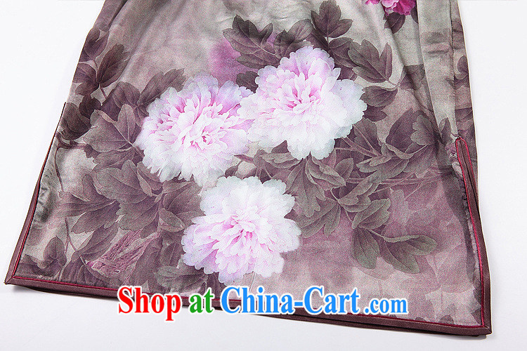 Shallow end (QM) retro Silk Cheongsam improved stylish summer dresses wedding dress uniform toast XWG picture color XXXL pictures, price, brand platters! Elections are good character, the national distribution, so why buy now enjoy more preferential! Health